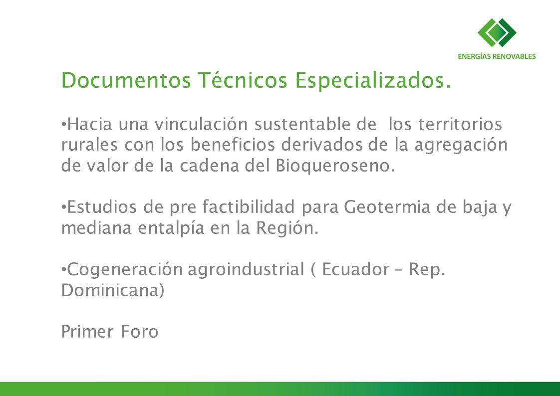 Documentos Técnicos Especializados. Hacia una vinculación sustentable de los territorios rurales con los beneficios derivados de la agregación de valo