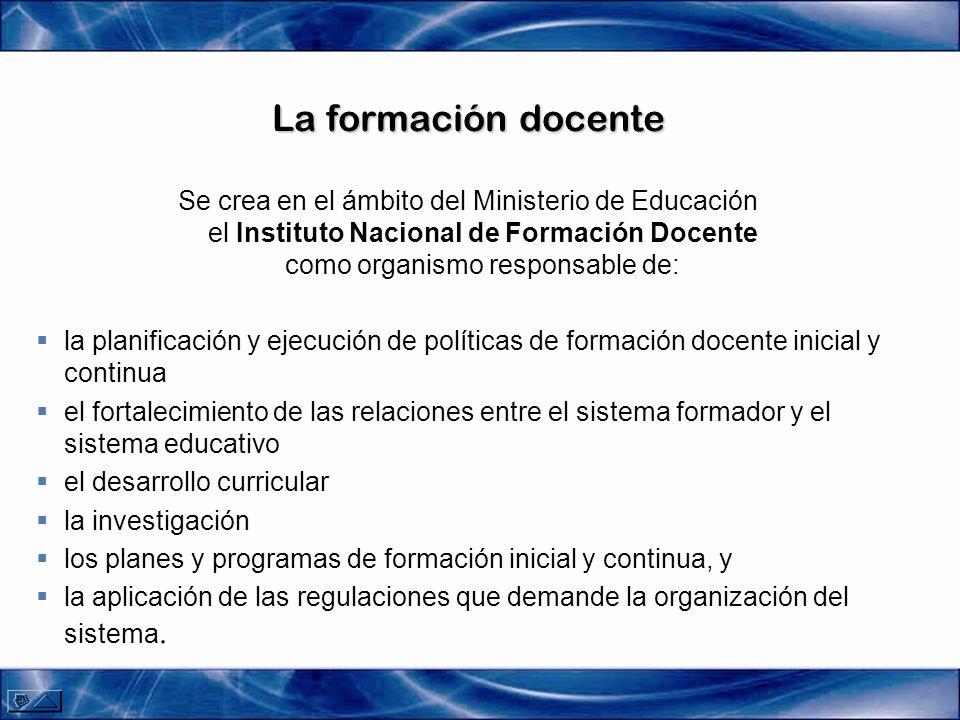 Plan Nacional de Formación Docente Fortalecimiento de la dinámica organizacional de los ISFD que favorezca un buen ambiente de aprendizaje y desarrollo formativo de los futuros docentes, y un trabajo docente apropiado.