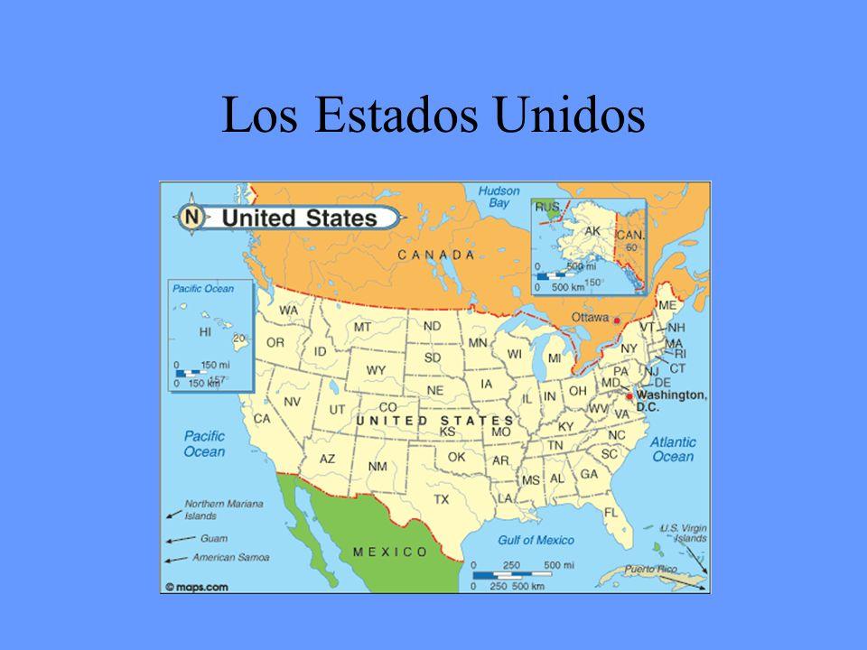 Los estados del oeste (11) Montana Wyoming Colorado Idaho Oregon Washington Utah Nevada California Alaska hawaii