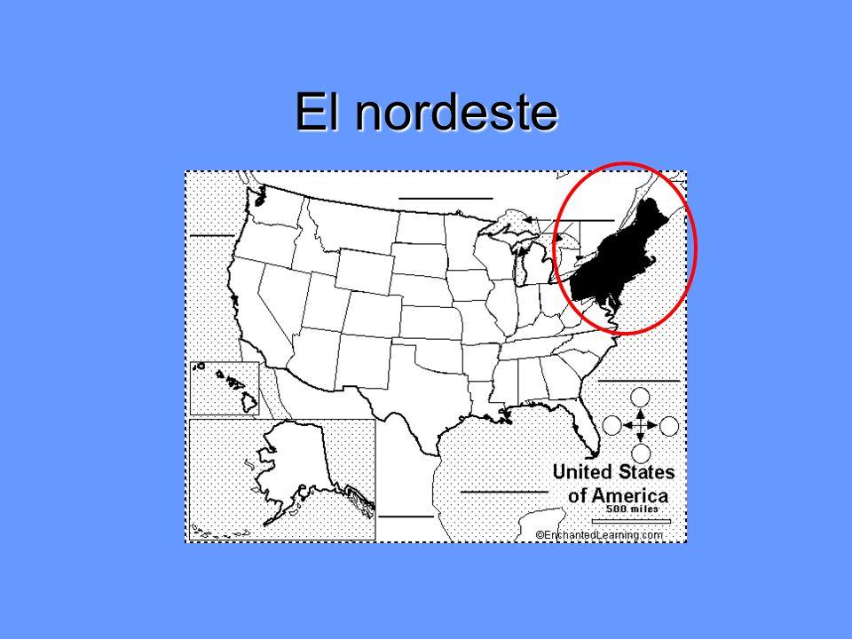 Los estados del nordeste (11) Maine Vermont Nuevo Hampshire Massachusetts Rhode Island Connecticut Nueva York Nueva Jersey Pensilvania Delaware Maryland