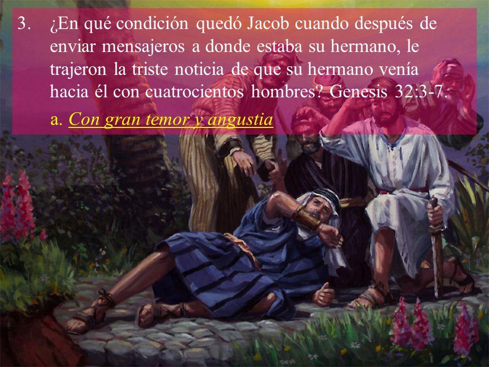 4.¿Con quién luchó Jacob al quedar solo en la oscuridad y cuáles fueron los resultados de esa lucha.