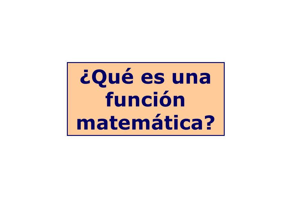 ¿Qué es una función matemática?