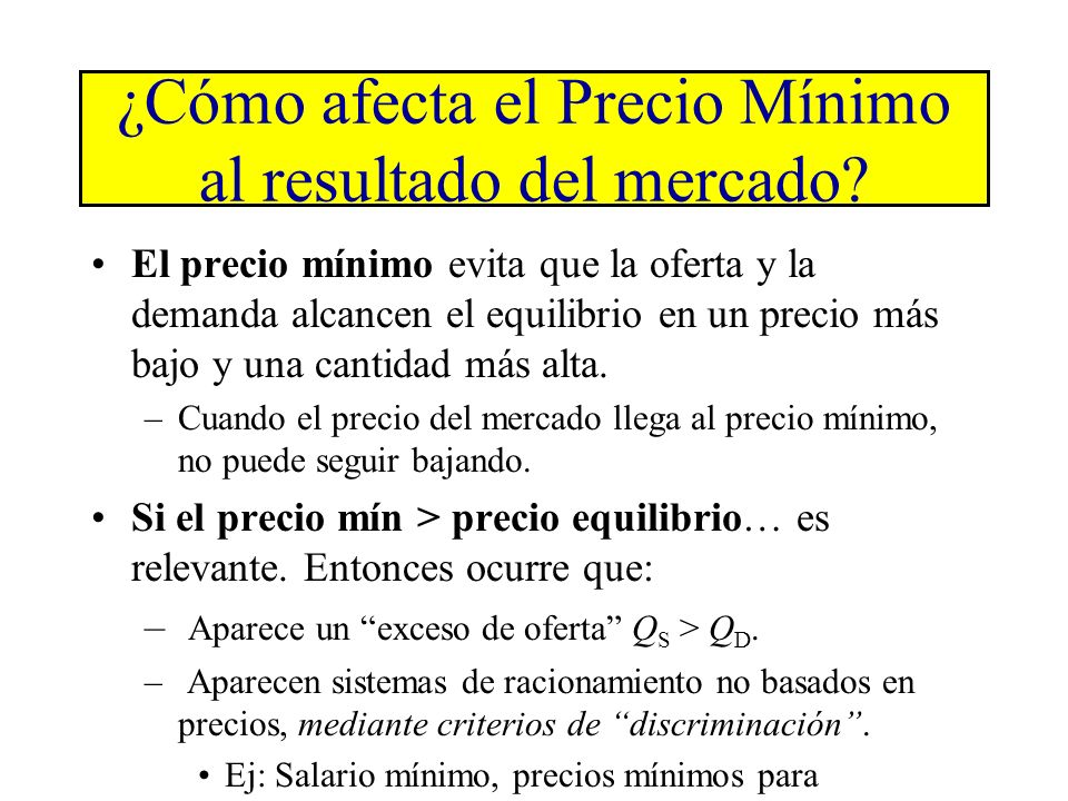 Copyright©2003 Southwestern/Thomson Learning (b) Precio mín.>precio equilibrio: sí influye Q 0 P D1 S1 4 Precio mín. 80 Cantidad demandada 120 Cantida