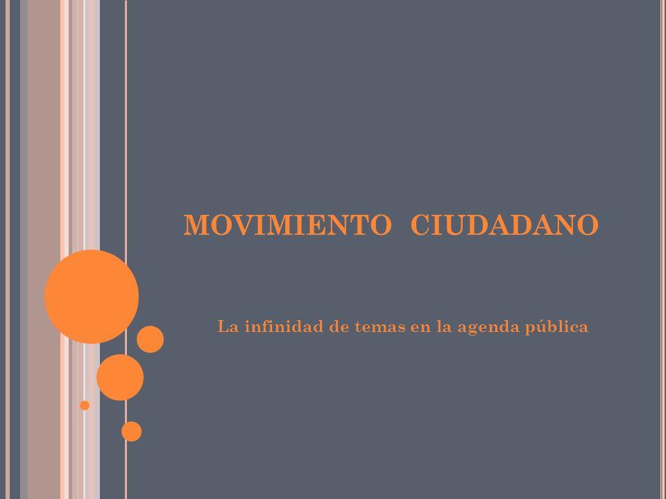 MOVIMIENTO CIUDADANO La infinidad de temas en la agenda pública