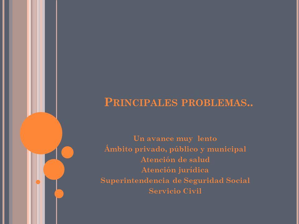 P RINCIPALES PROBLEMAS..
