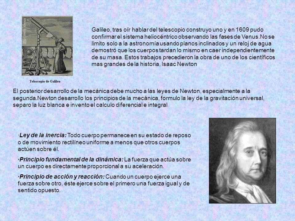 Galileo, tras oír hablar del telescopio construyo uno y en 1609 pudo confirmar el sistema heliocéntrico observando las fases de Venus.No se limito sol