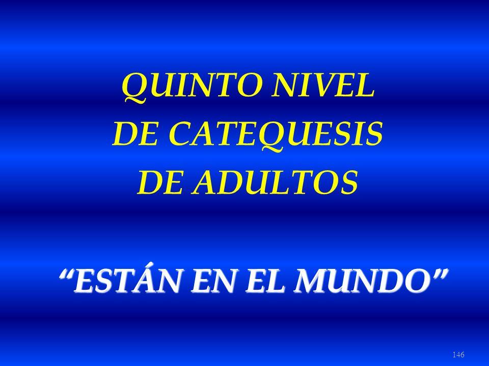 146 QUINTO NIVEL DE CATEQUESIS DE ADULTOS ESTÁN EN EL MUNDO ESTÁN EN EL MUNDO