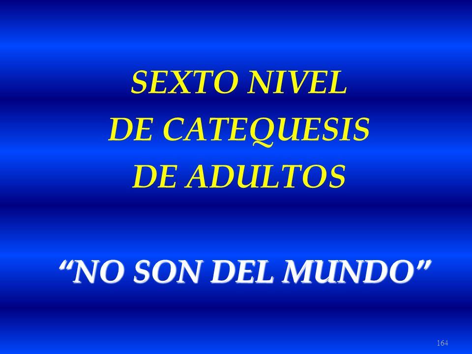164 SEXTO NIVEL DE CATEQUESIS DE ADULTOS NO SON DEL MUNDO NO SON DEL MUNDO