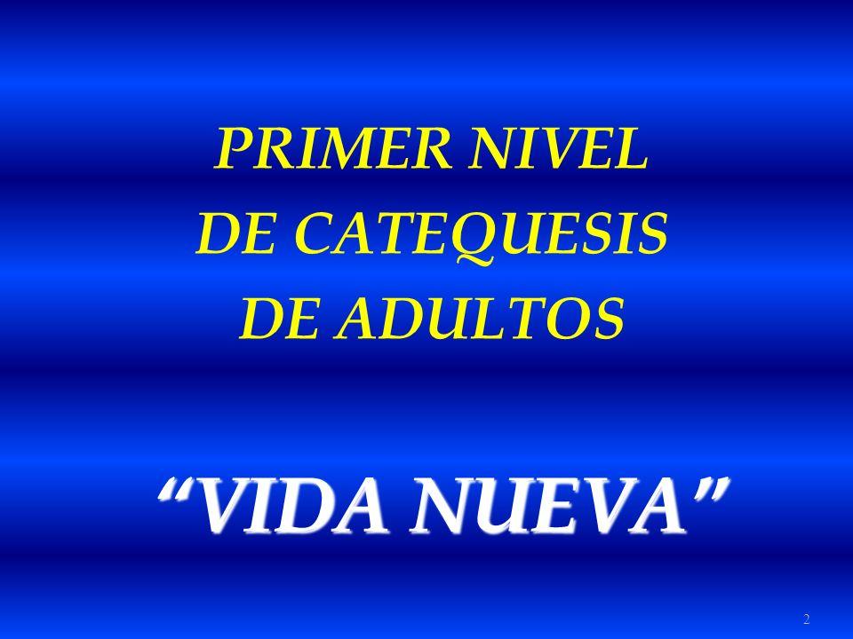 2 PRIMER NIVEL DE CATEQUESIS DE ADULTOS VIDA NUEVA VIDA NUEVA