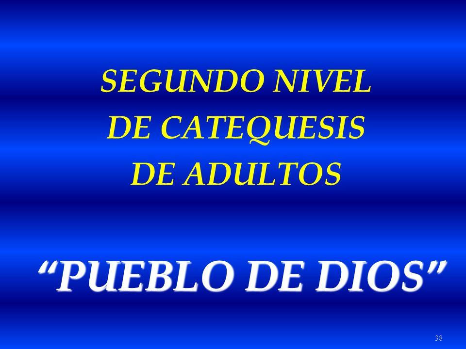 38 SEGUNDO NIVEL DE CATEQUESIS DE ADULTOS PUEBLO DE DIOS PUEBLO DE DIOS