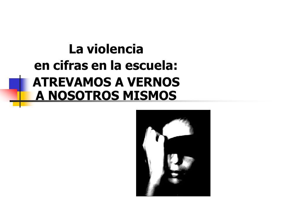 La violencia en cifras en la escuela: ATREVAMOS A VERNOS A NOSOTROS MISMOS