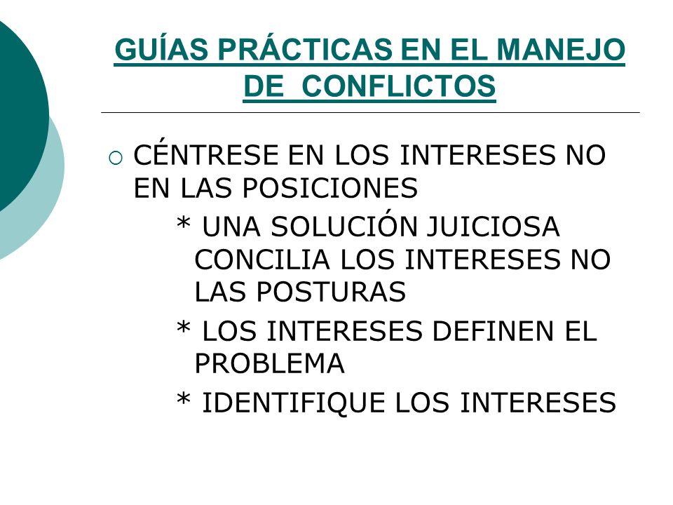 ACTITUDES ANTE EL MANEJO DE CONFLICTO SER NEUTRAL NO ENJUICIAR SER BUEN OYENTE CREER Y MANTENER LA CONFIANZA SER PACIENTE