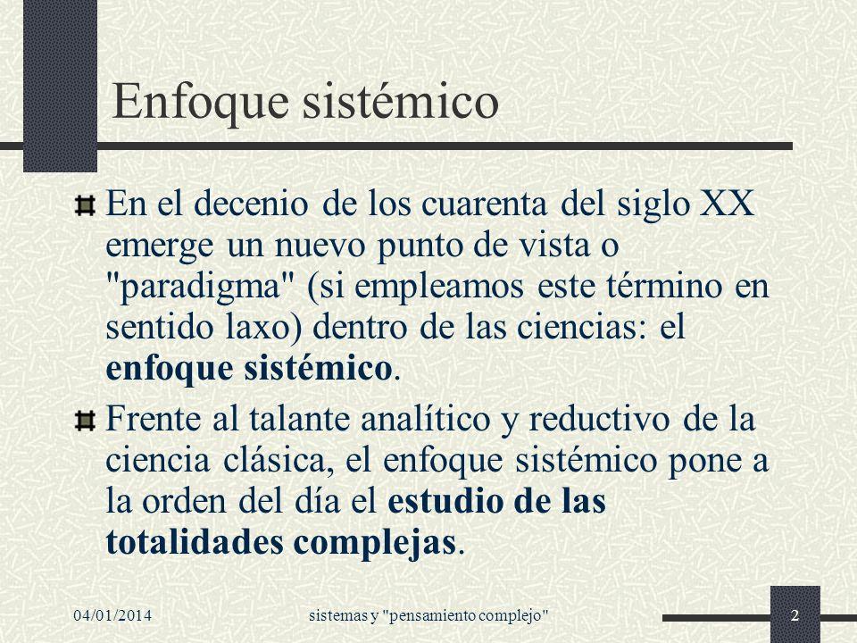 04/01/2014sistemas y pensamiento complejo 43 El problema aquí es la palabra reducidas.