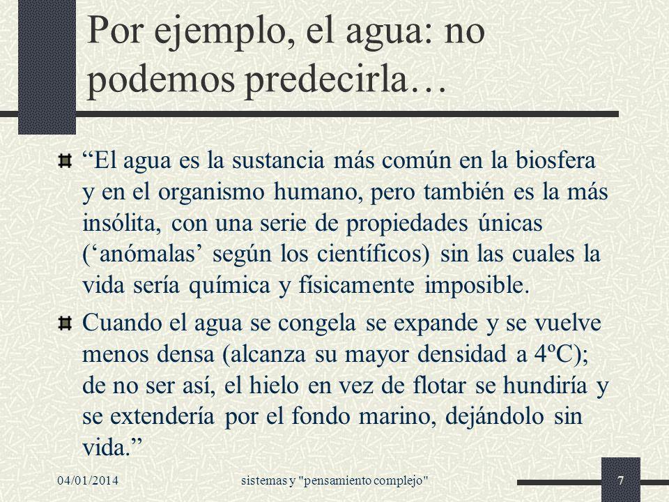04/01/2014sistemas y pensamiento complejo 48 Desde una perspectiva sistémica...