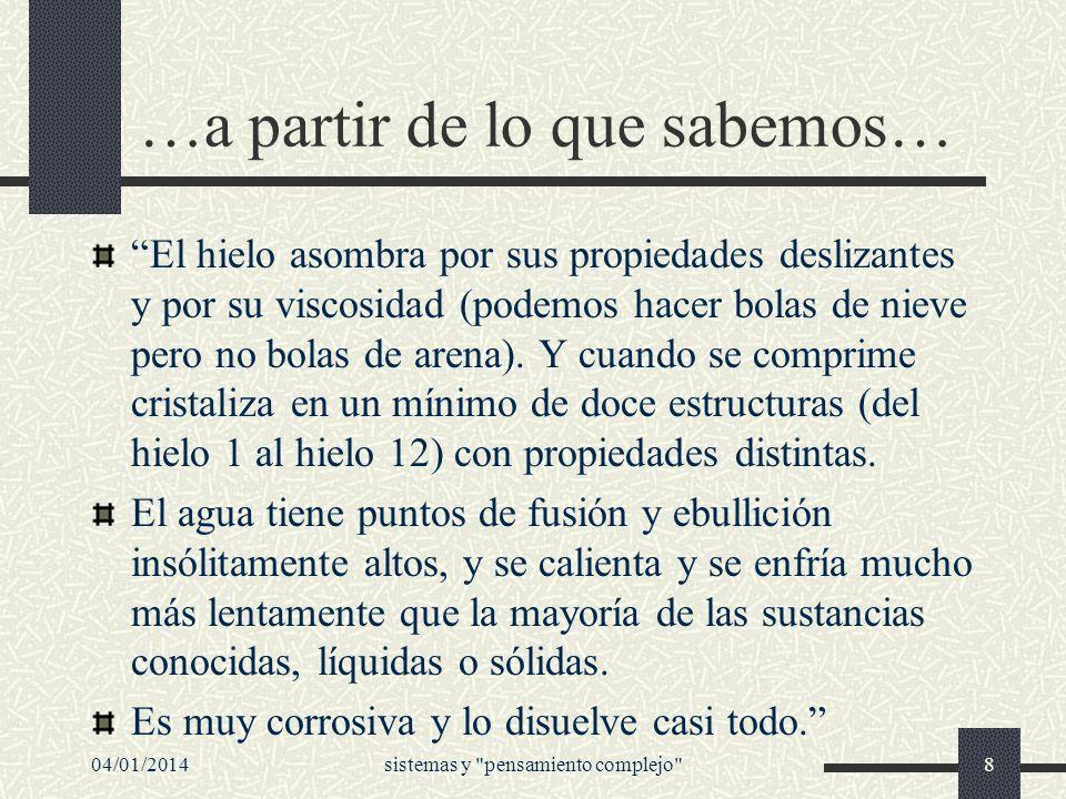 04/01/2014sistemas y pensamiento complejo 49 En los orígenes de la conciencia ecológica...