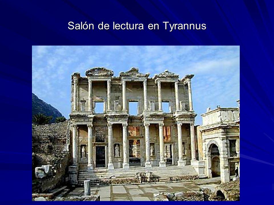 Salón de lectura en Tyrannus