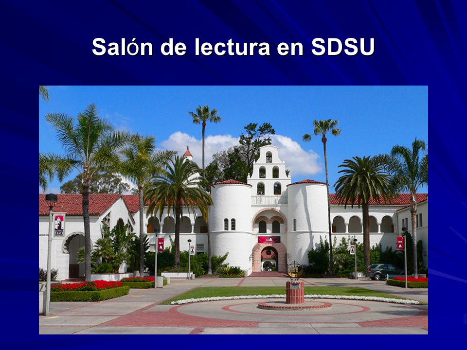 Salón de lectura en SDSU