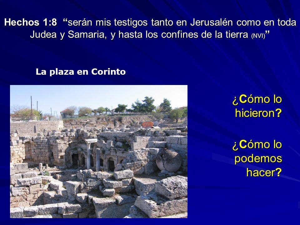 Hechos 1:8 serán mis testigos tanto en Jerusalén como en toda Judea y Samaria, y hasta los confines de la tierra (NVI) Hechos 1:8 serán mis testigos t