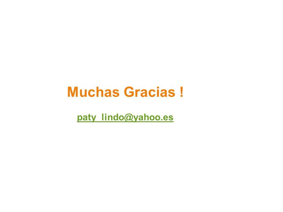 Muchas Gracias ! paty_lindo@yahoo.es