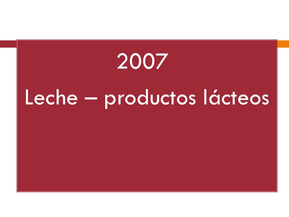 2007 Leche – productos lácteos
