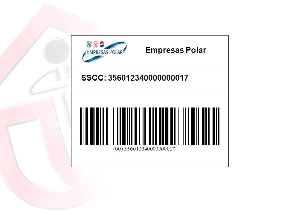 SSCC 32 mm SSCC: 356012340000000017 (00) 356012340000000017 Empresas Polar