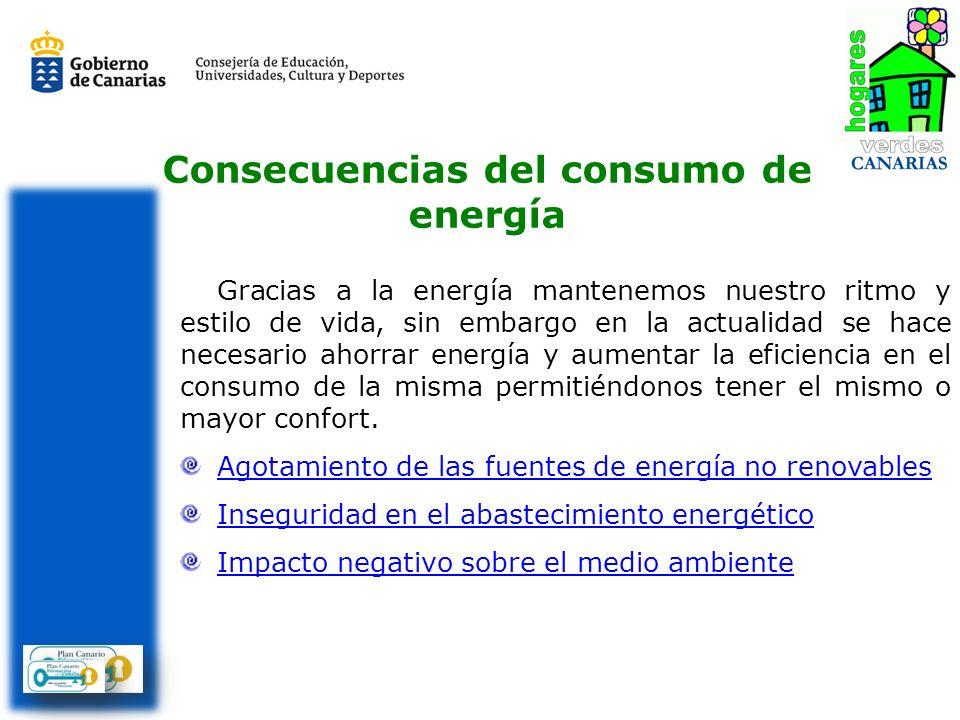 Consecuencias del consumo de energía Gracias a la energía mantenemos nuestro ritmo y estilo de vida, sin embargo en la actualidad se hace necesario ah