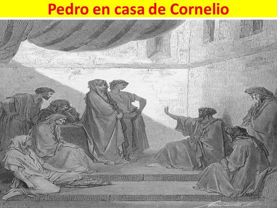 Pedro en casa de Cornelio