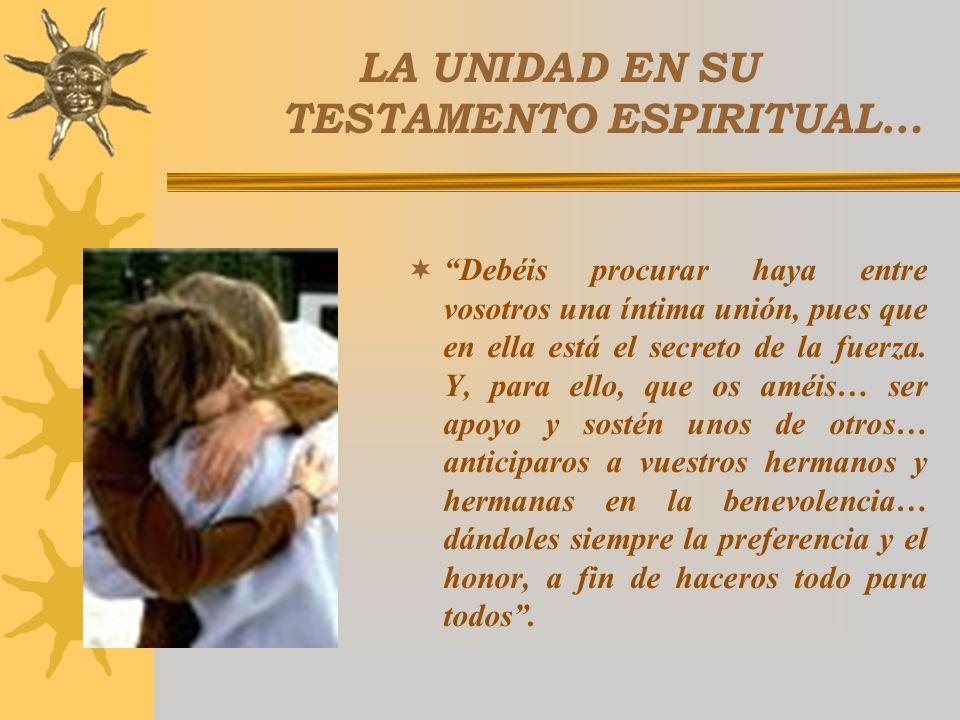 CENTRO DE UNIDAD DE LA FAMILIA… Reconcilió al alcalde y al párroco de Alboraya. Con ellos reconcilió y unió a todo el pueblo. Las comunidades necesita