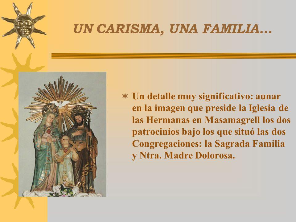 UN CARISMA, UNA FAMILIA… En dos Congregaciones y otras muchas comunidades laicales. A todos dirige el P. Luis su Carta Testamento con esa síntesis per