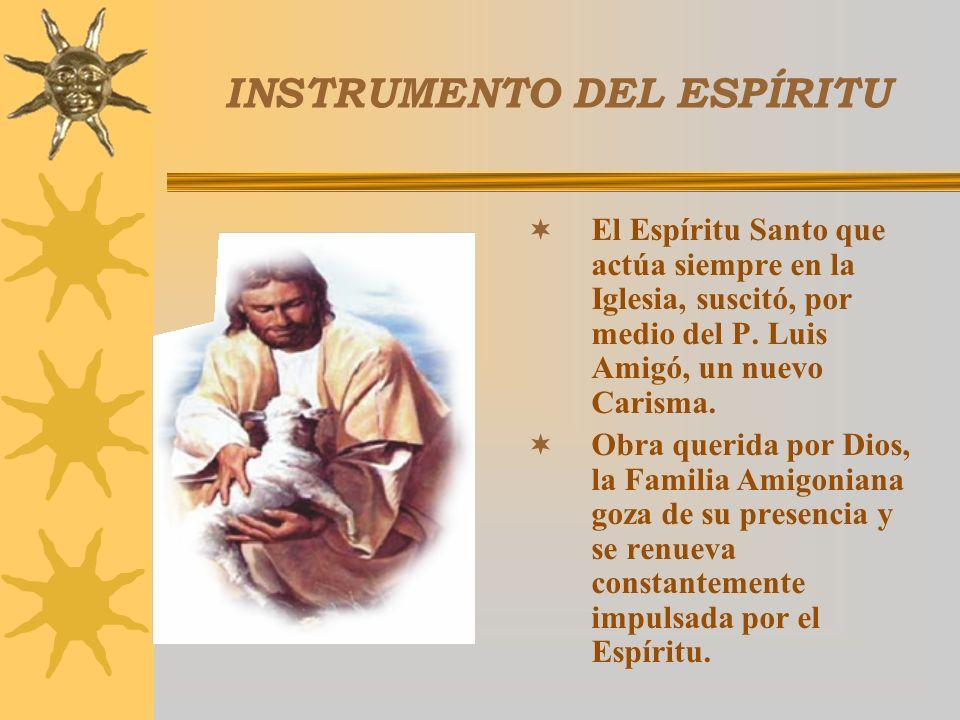 LUIS AMIGÓ INSPIRADOR DE LA FAMILIA AMIGONIANA LUIS AMIGÓ INSPIRADOR, CENTRO DE UNIDAD Y GARANTÍA DE FIDELIDAD PARA LA FAMILIA AMIGONIANA