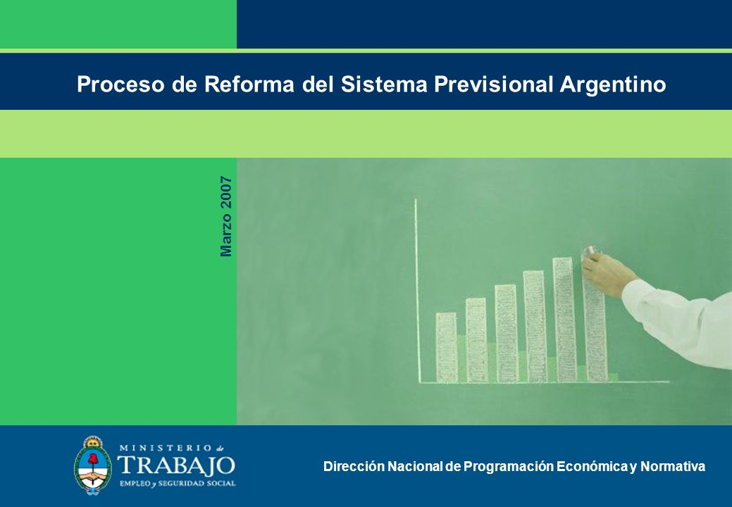 Proceso de Reforma del Sistema Previsional Argentino Marzo 2007 Dirección Nacional de Programación Económica y Normativa