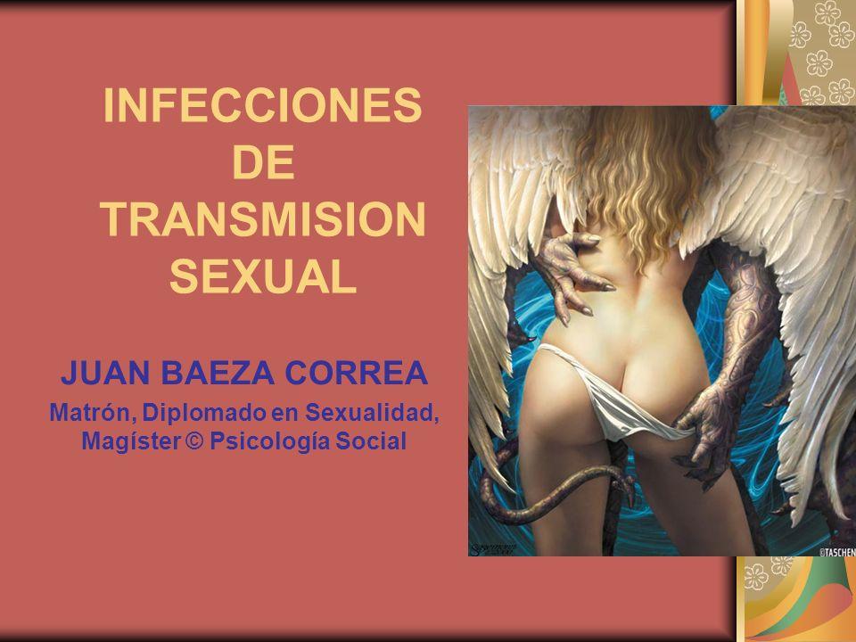 INFECCIONES DE TRANSMISION SEXUAL JUAN BAEZA CORREA Matrón, Diplomado en Sexualidad, Magíster © Psicología Social
