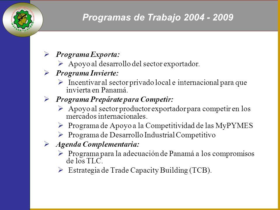 Programa Exporta: Apoyo al desarrollo del sector exportador.