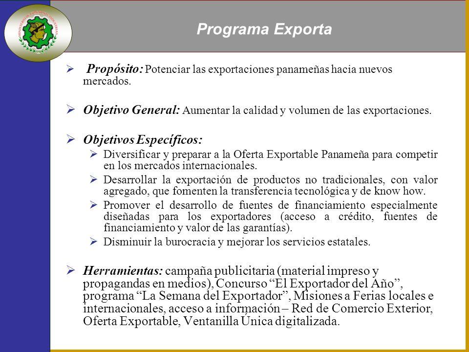 Propósito: Potenciar las exportaciones panameñas hacia nuevos mercados.