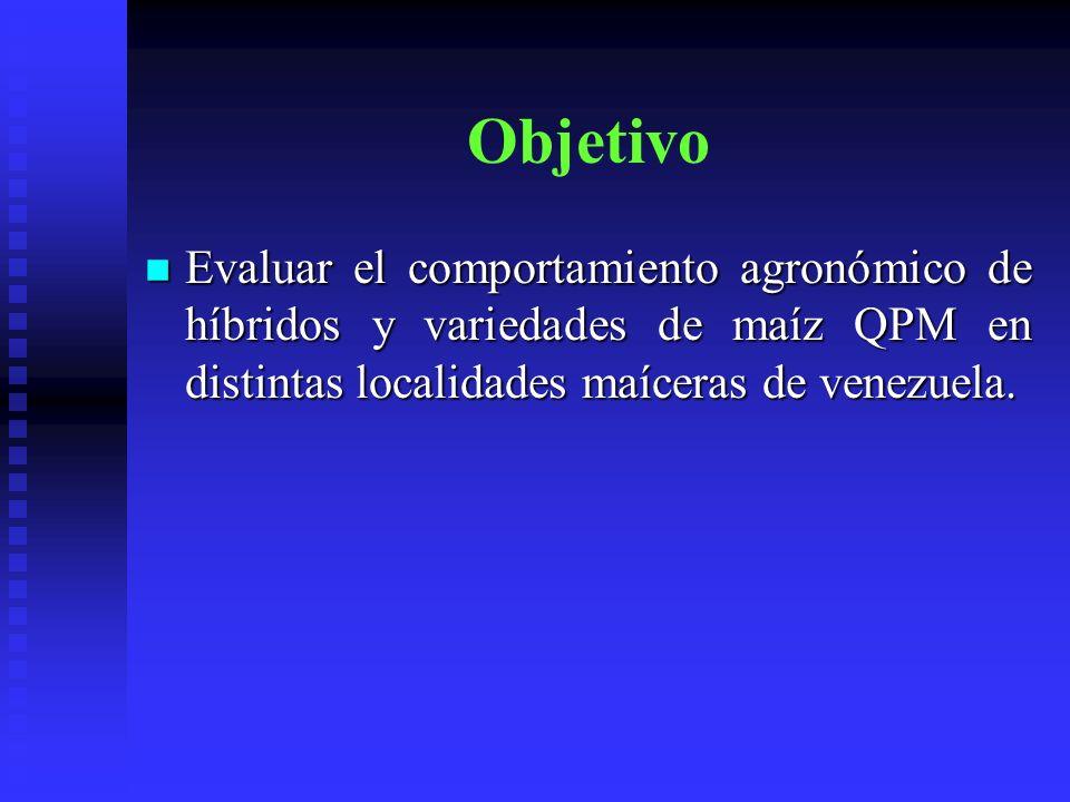 Materiales y métodos Evaluación Híbridos (1) 2001: 7+5 T, 18 Locs 2001: 7+5 T, 18 Locs BCA, 4 reps BCA, 4 reps 2 hileras, 70000 plantas/ha 2 hileras, 70000 plantas/ha FF, FM, AP, AM, AC, COBM, MPOD, ASPM, DGRA, REND FF, FM, AP, AM, AC, COBM, MPOD, ASPM, DGRA, REND