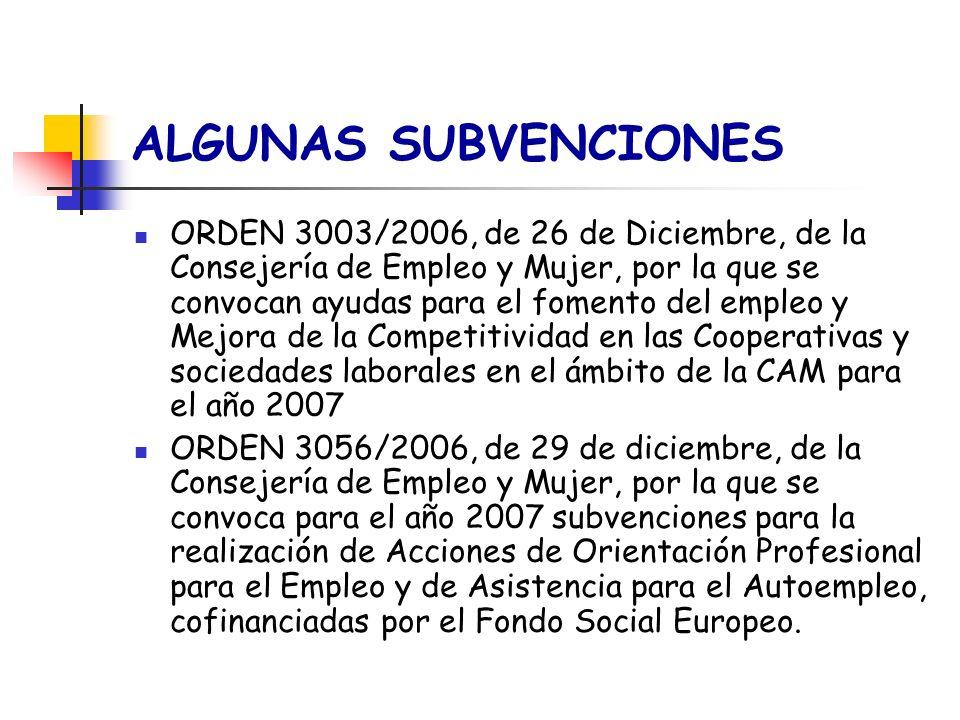 ORDEN 3003/2006, de 26 de Diciembre, de la Consejería de Empleo y Mujer, por la que se convocan ayudas para el fomento del empleo y Mejora de la Compe
