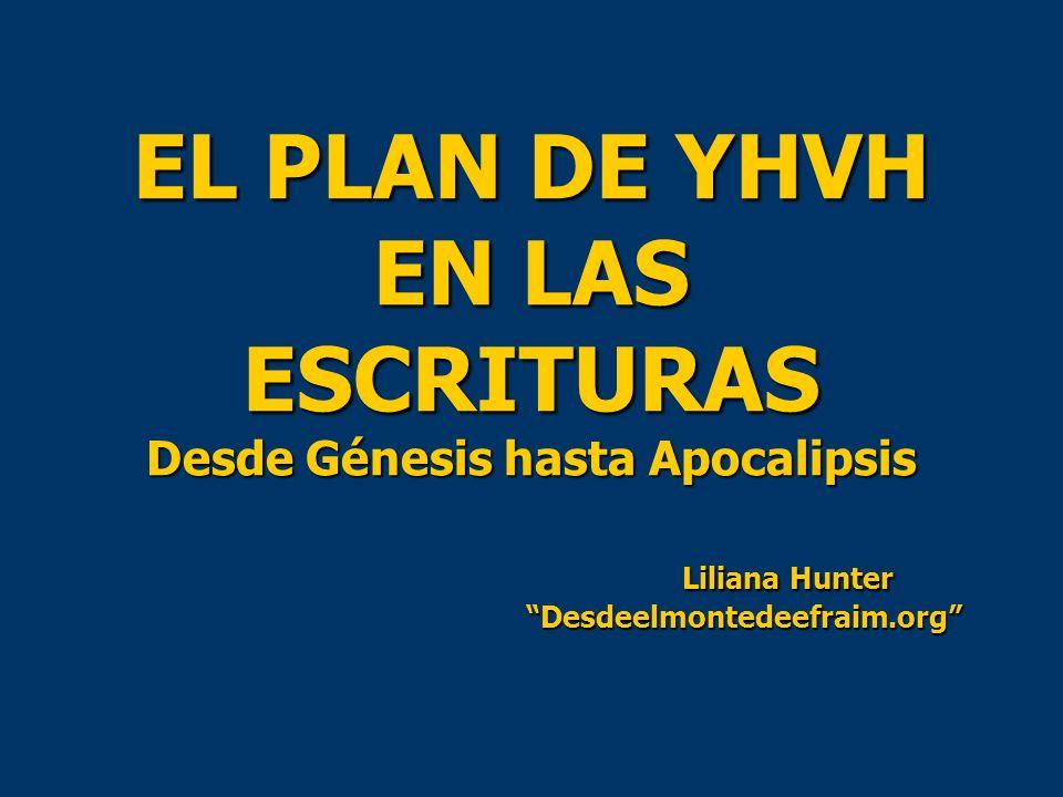 EL PLAN DE YHVH EN LAS ESCRITURAS Desde Génesis hasta Apocalipsis Liliana Hunter Desdeelmontedeefraim.org