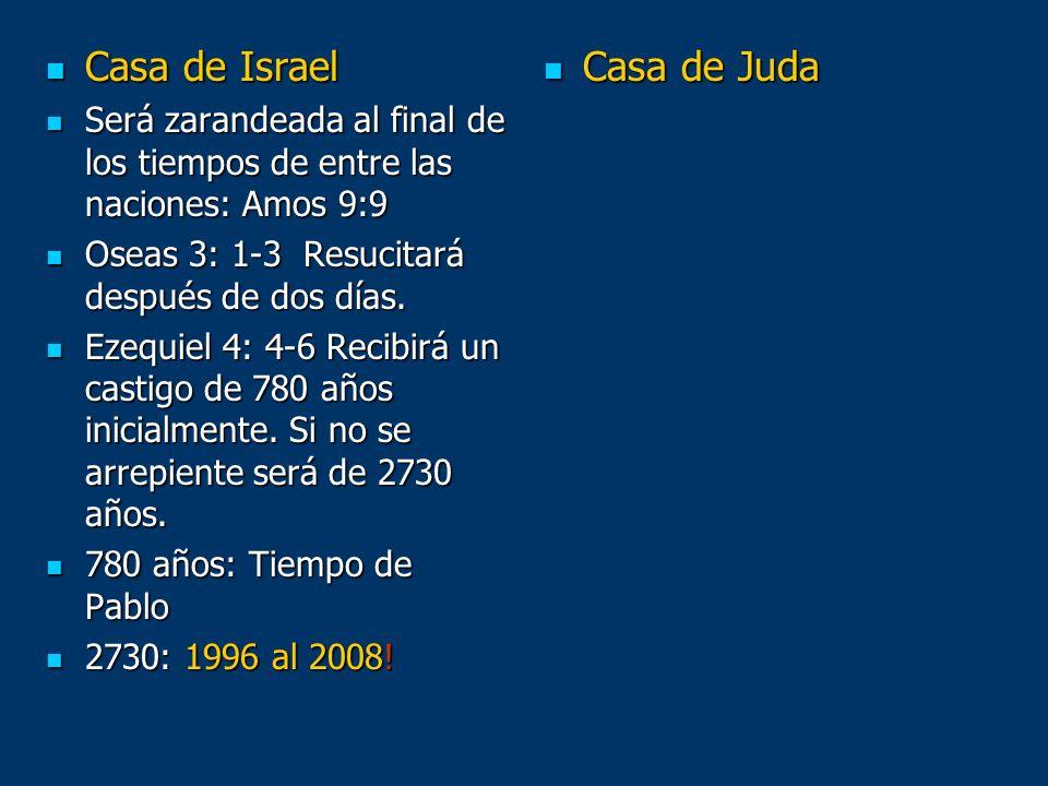 Casa de Israel Casa de Israel Será zarandeada al final de los tiempos de entre las naciones: Amos 9:9 Será zarandeada al final de los tiempos de entre
