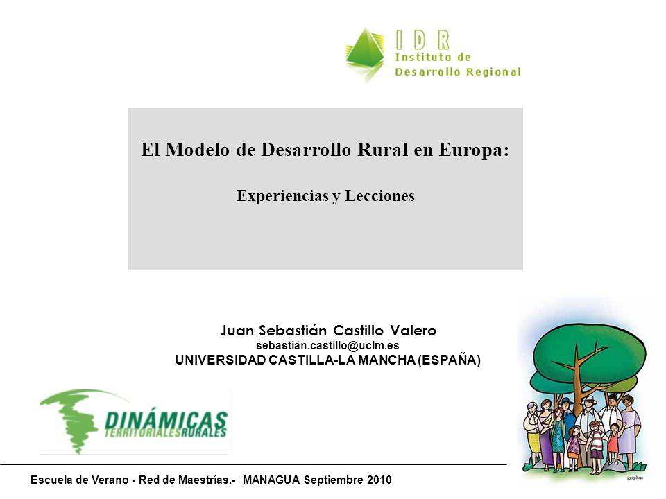 AGRICULTURA COMPETITIVA Y EFICIENTE ORIENTACIÓN a MERCADO INTERIOR y EXTERIOR AVANCES TECNÓLOGICOS y de GESTIÓN INCIDENCIA REFORMAS PAC 1992 y 2003 POLÍTICA AGRORURAL COMÚN 2013 AGRICULTURA EXTENSIVA y MARGINAL en MULTIFUNCIÓN como RASGO DISTINTIVO Agricultura de subsistencia / abandono PLURIACTIVIDAD: Rentas multiexplotación BASES COMERCIALIZADORAS y de CALIDAD hacia FEADER EJE 1 EJE 2 DUALIDAD AGRARIA en el MUNDO RURAL en la UE PRESIÓN MEDIOAMBIENTAL INTENSIVISTA: Degradación y residuos PRESIÓN MEDIOAMBIENTAL por DEFECTO: Despoblamiento y erosión EJE 3 EJE 2