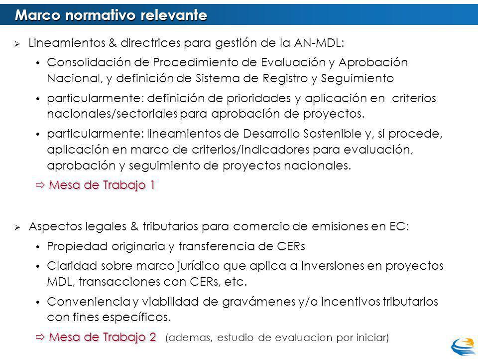 Lineamientos & directrices para gestión de la AN-MDL: Consolidación de Procedimiento de Evaluación y Aprobación Nacional, y definición de Sistema de R
