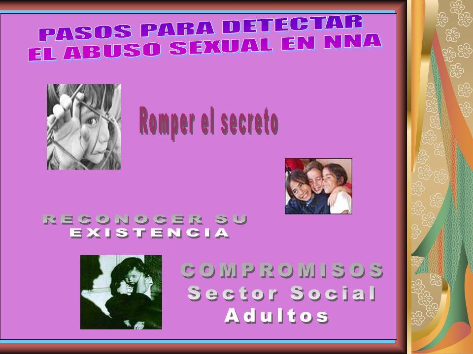 SE ESTIMA QUE 1 DE CADA 5 MUJERES Y 1 DE CADA 8 HOMBRES SUFREN ALGUN TIPO DE ABUSO SEXUAL ANTES DE CUMPLIR LOS 18 AÑOS