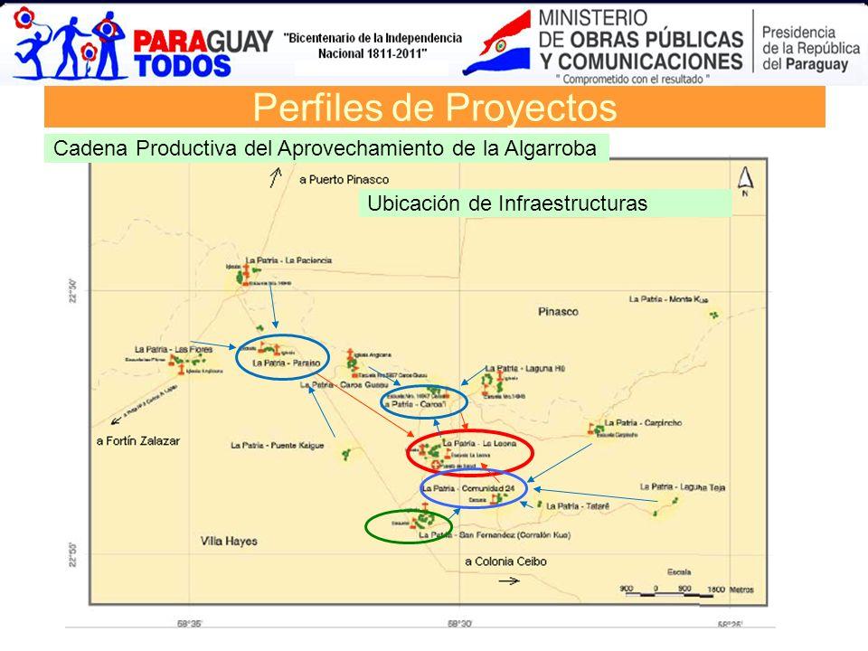 Perfiles de Proyectos Cadena Productiva del Aprovechamiento de la Algarroba Ubicación de Infraestructuras