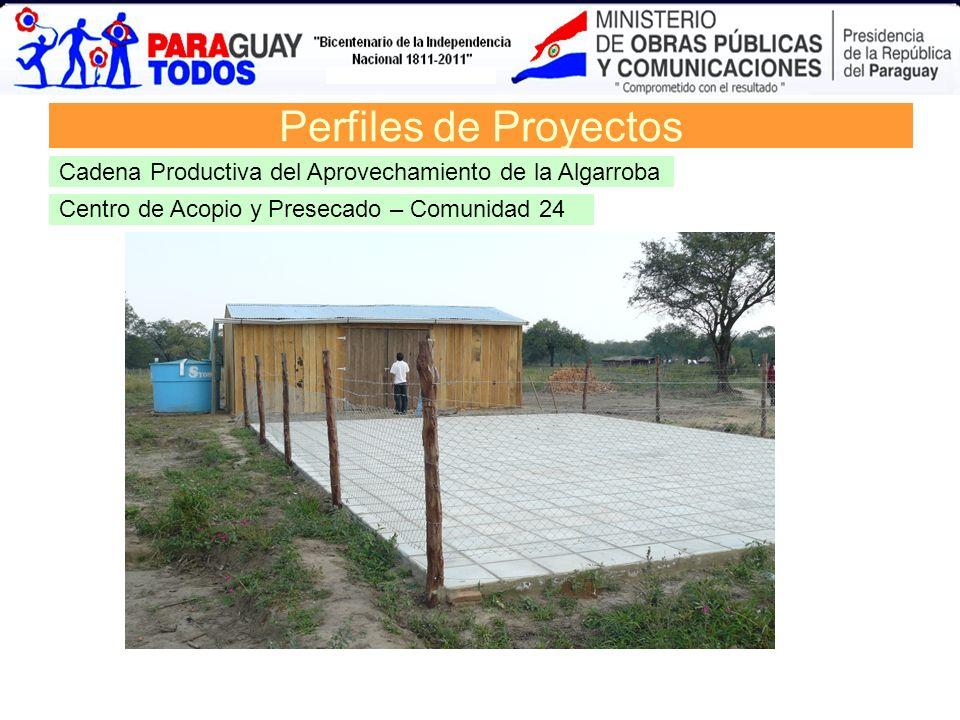 Centro de Acopio y Presecado – Comunidad 24 Perfiles de Proyectos Cadena Productiva del Aprovechamiento de la Algarroba