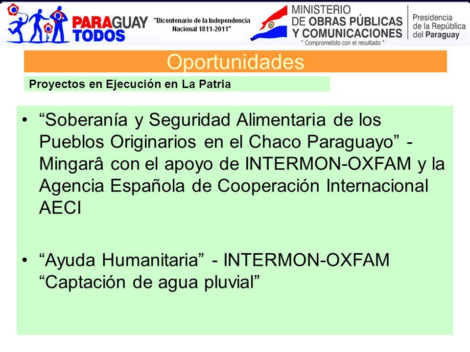 Oportunidades Soberanía y Seguridad Alimentaria de los Pueblos Originarios en el Chaco Paraguayo - Mingarâ con el apoyo de INTERMON-OXFAM y la Agencia
