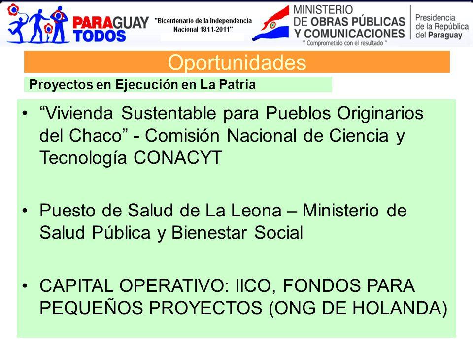 Oportunidades Vivienda Sustentable para Pueblos Originarios del Chaco - Comisión Nacional de Ciencia y Tecnología CONACYT Puesto de Salud de La Leona