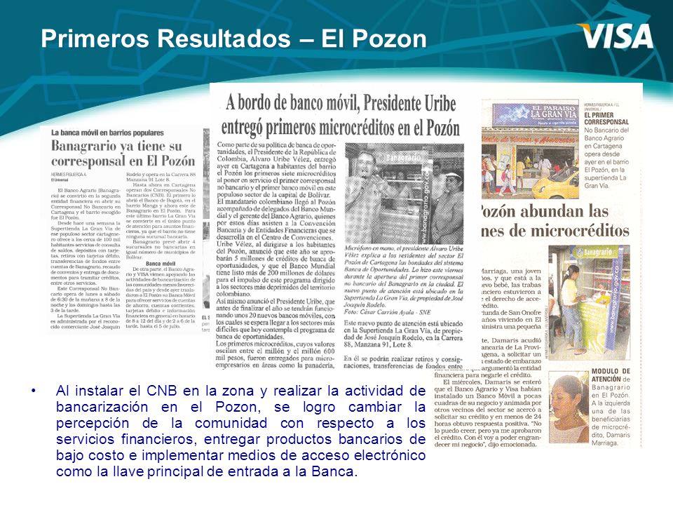 Al instalar el CNB en la zona y realizar la actividad de bancarización en el Pozon, se logro cambiar la percepción de la comunidad con respecto a los