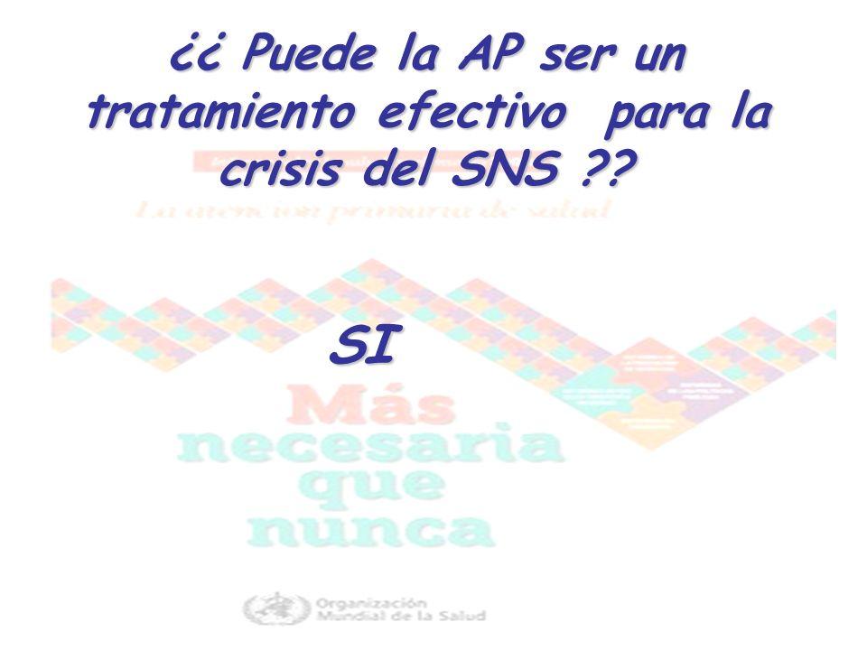 ¿¿ Puede la AP ser un tratamiento efectivo para la crisis del SNS ?? SI