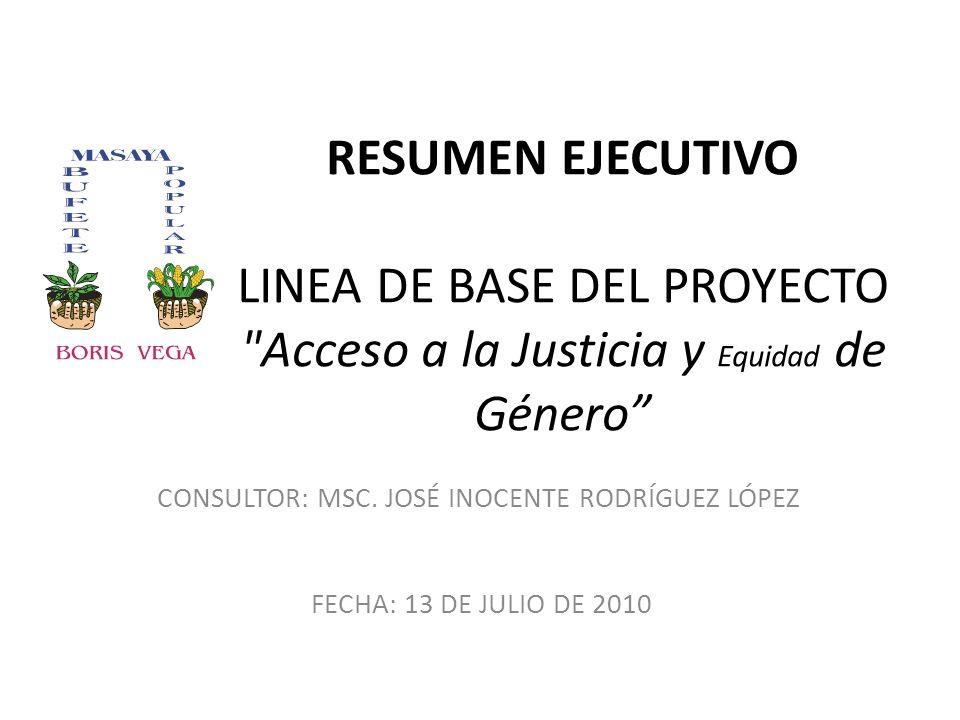 RESUMEN EJECUTIVO LINEA DE BASE DEL PROYECTO