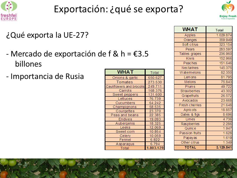 ¿ Qué exporta la UE-27.