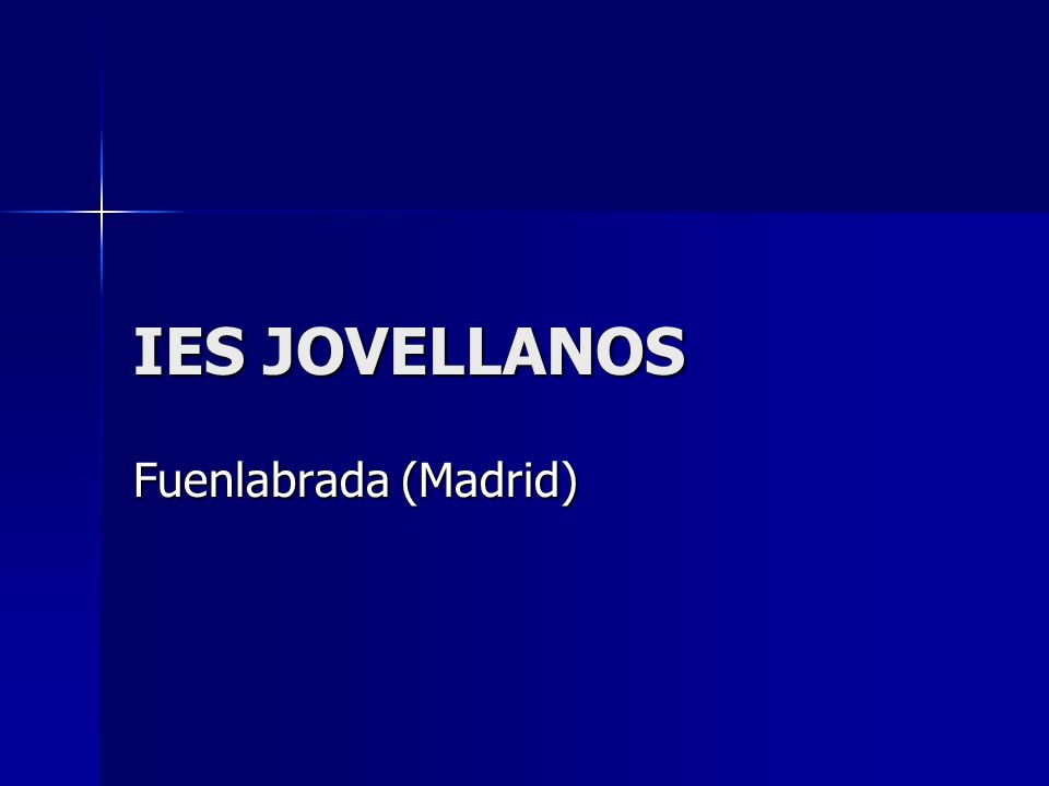IES JOVELLANOS Fuenlabrada (Madrid)